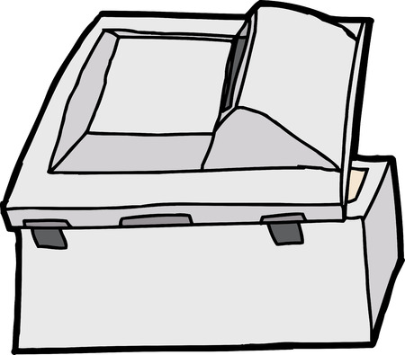 Back end of isolated multifunction copy machine Vector