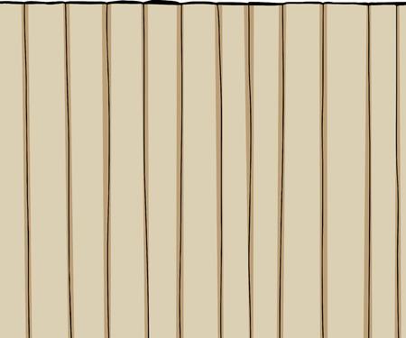 白い背景の上の木製のフェンスを背の高い漫画  イラスト・ベクター素材