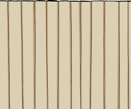 unprinted: Tall wooden fence cartoon over white background