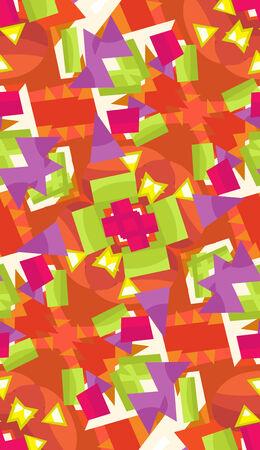 Abstract seamless background pattern of fluttering butterflies Ilustração