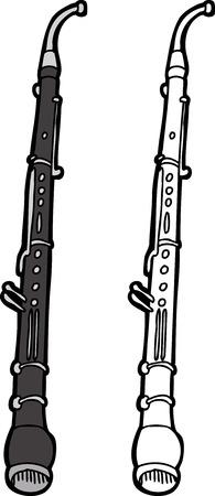 English horn windwood instrument over white background 일러스트