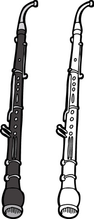 cor: English horn windwood instrument over white background Illustration