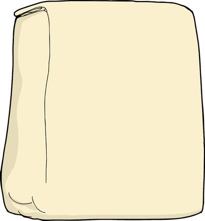 unprinted: Bolso blanco de la harina o el az�car en el fondo blanco Vectores