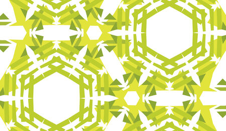 Background of green hexagons in seamless pattern