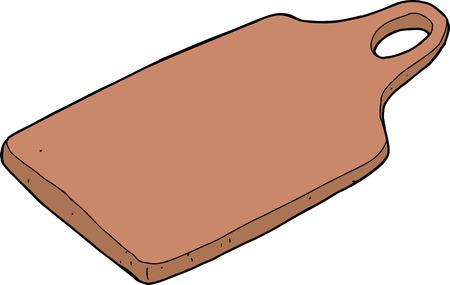 孤立した白い背景の上に木製のまな板