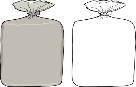 Generic isolated bags in color and white Vector