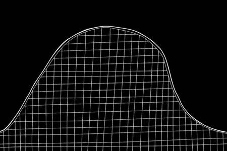 White roller coaster on solid black background