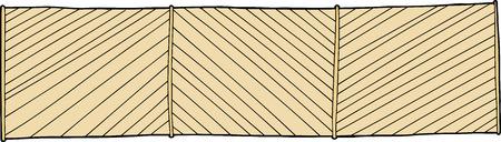 slanted: Cerca de madera con tablones inclinados sobre fondo blanco Vectores