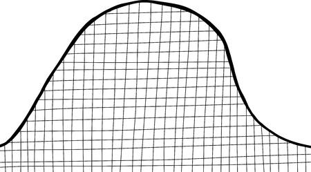 Lege achtbaan terug aangestoken op een witte achtergrond Stock Illustratie