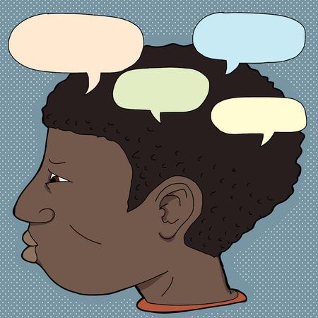 voices: Var�n joven Negro con voces en su cabeza