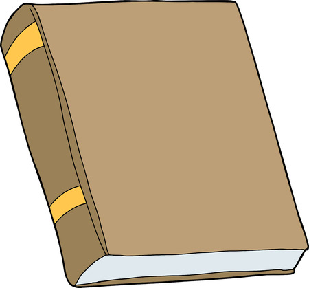 hard cover: Generic brown book with blank cover on isolated
