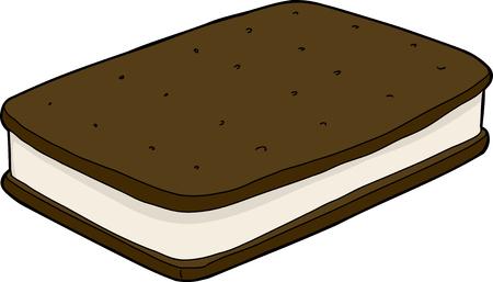 Geïsoleerde ijs sandwich over geïsoleerde achtergrond