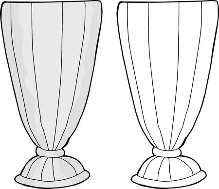 Empty milkshake glass cartoon over isolated background