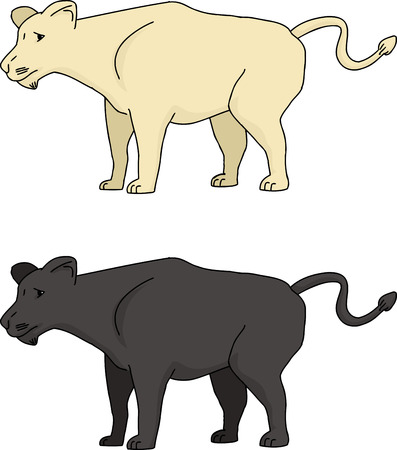 Wild cats cartoon over isolated white background Vector