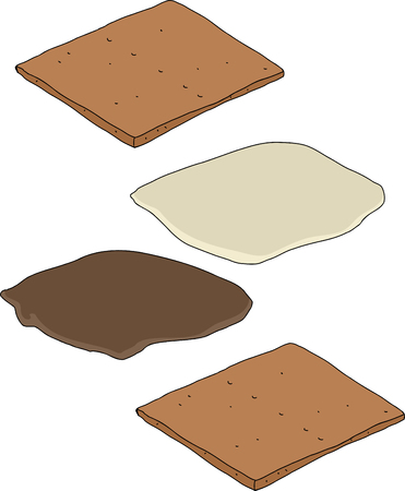 Make your own smores cartoon on isolated background Stock Vector - 29188696