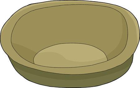 empty bowl: Single empty bowl over isolated white background