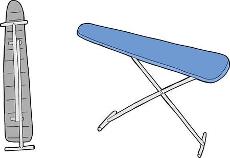 One isolated hand drawn cartoon ironing board