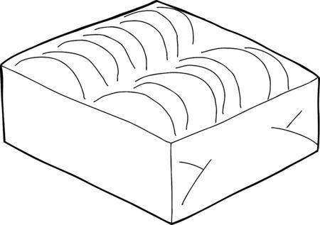 Hand drawn outline of taco shells box