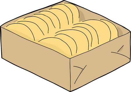 Box of taco shells on isolated background