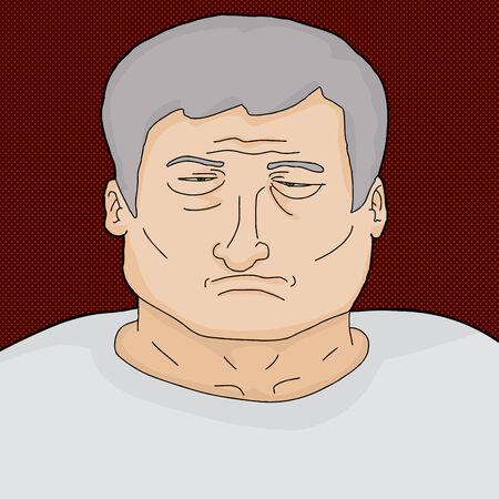 perişan: Tek sefil ve bitkin kıdemli Kafkas adam