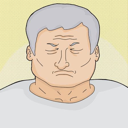 geschlossene augen: Sterbende mit den Augen �ber Halbton-Hintergrund geschlossen