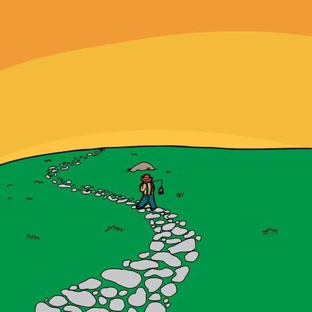 piedra laja: La naturaleza de fondo de dibujos animados Vectores