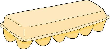 unprinted: Aislados dibujado a mano de cart�n solo huevo sobre blanco