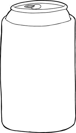unprinted: Dibujado a mano de la manga de la cerveza sobre el fondo blanco