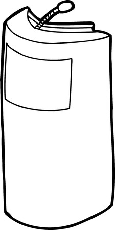 lectern: Single outline lectern with blank sign over white Illustration