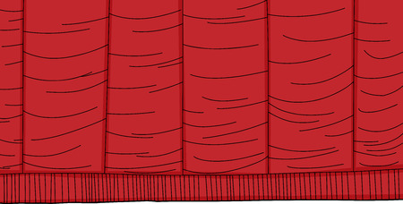 Red hand drawn cartoon theater curtain background