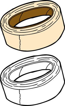 色や輪郭の分離のマスキング テープ