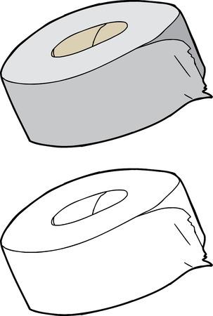 duct: Aislado Individual rollo de cinta adhesiva sobre blanco