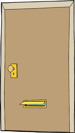 開いているメール スロットを持つ分離漫画ドア