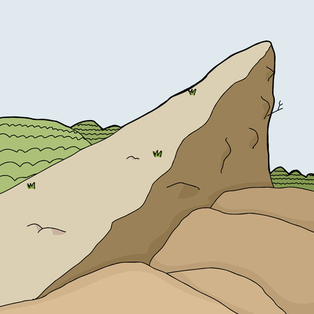 ledge: Wilderness rock outcropping in desert cartoon background