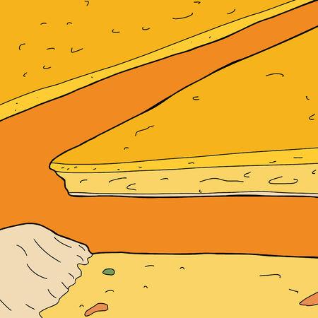 Cerca de varios rebanadas de pizza de queso Foto de archivo - 34317315