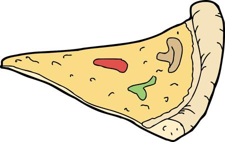 Dibujado a mano sola rebanada de pizza de queso Foto de archivo - 34317317