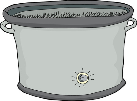 Single hand drawn empty electric slow cooker