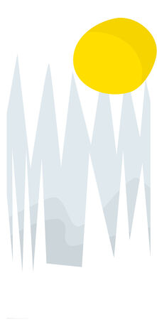 Abstract winter icicles and sun vector illustration Ilustração