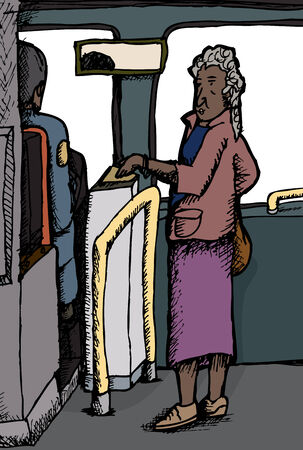 fare: Indian woman paying bus fare over isolated windows