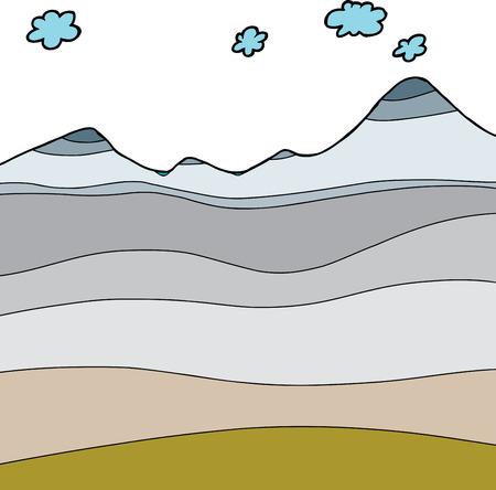 тундра: Ручной обращается арктический климат сечение графический Иллюстрация