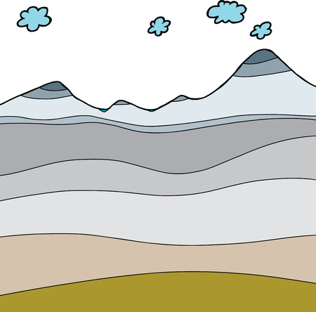 cross section: Hand drawn arctic climate cross section graphic Illustration