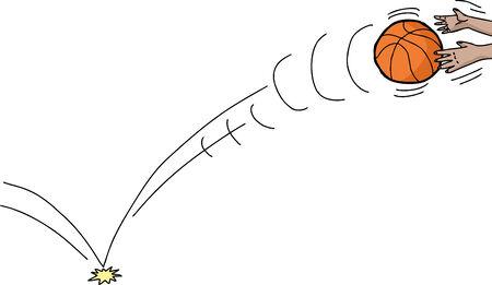 Cartoon de balle est passée à mains sur blanc Banque d'images - 35374060
