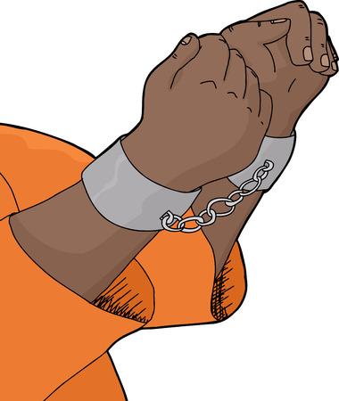 Isolated cartoon of hands in pair of handcuffs Banco de Imagens - 35795247
