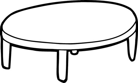 coffee table clipart black and white. outline of hand drawn cartoon table over white vector coffee clipart black and
