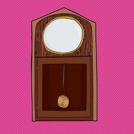 pendulum: Blank face grandfather clock with pendulum over pink