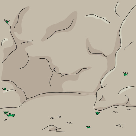 hand drawn cartoon: Mano dibujo animado hecho la pared de fondo pared de roca