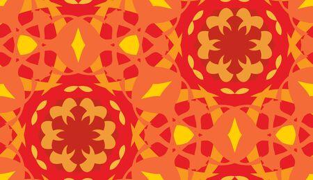 arabesque wallpaper: Orange and yellow arabesque seamless wallpaper background