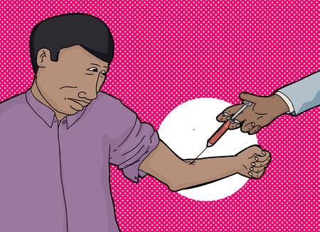 vuxen: Orolig afrikanska vuxen ge blod för testet