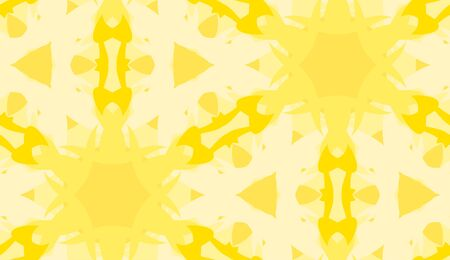 Seamless background pattern of yellow snowflake shapes Иллюстрация