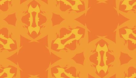 kaleidoscope: Seamless background pattern with orange kaleidoscope shapes Illustration